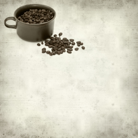 textured old paper background with coffee photo