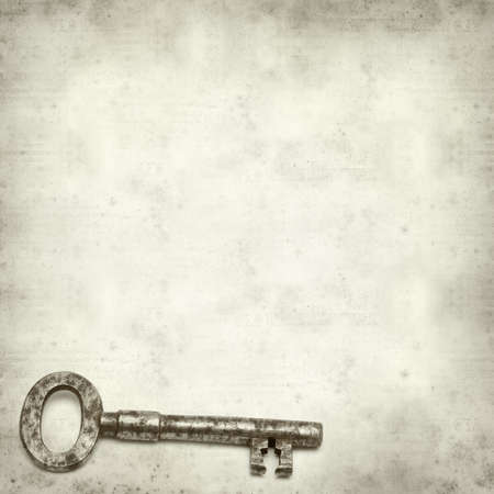 textured old paper background with old rusty  key Stock Photo - 22821198