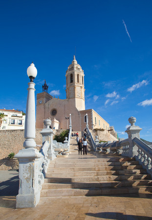17th: Sitges, 17th century seaside church of Sant Bartomeu i Santa Tecla Editorial