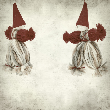 textured old paper background with clown decoration Stock Photo - 23806465