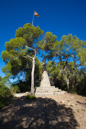 garraf: Catalonia, Parque Garraf, Creu de Sant Isidre (Saint Isidores Cross) Editorial