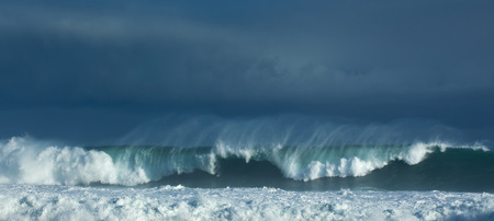 swell: powerful ocean waves breaking, natural background Stock Photo