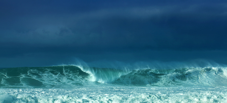 powerful ocean waves breaking, natural background Stock Photo - 24975749