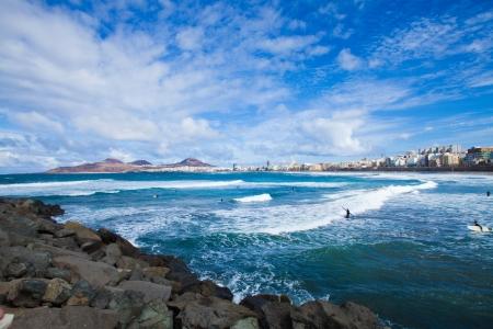 Playa de las Canteras, Las Palmas de Gran Canaria, December 2013 Standard-Bild