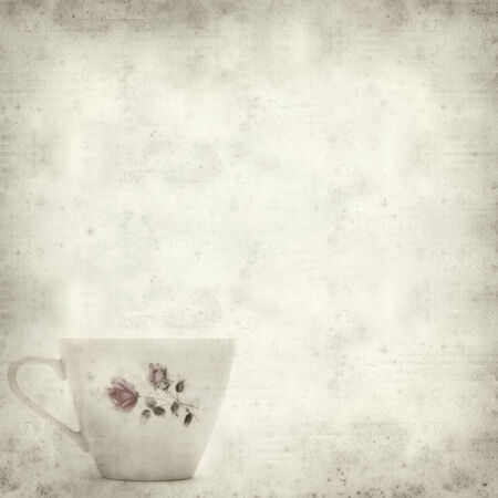 breakable: textured old paper background with vintage coffee cup Stock Photo