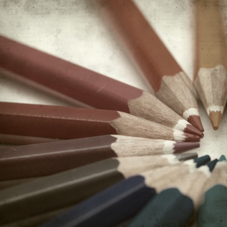 textured old paper background with color pencils Stock Photo - 25297104