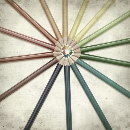 textured old paper background with color pencils Stock Photo - 25297111