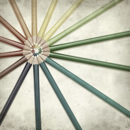 textured old paper background with color pencils Stock Photo - 25297126
