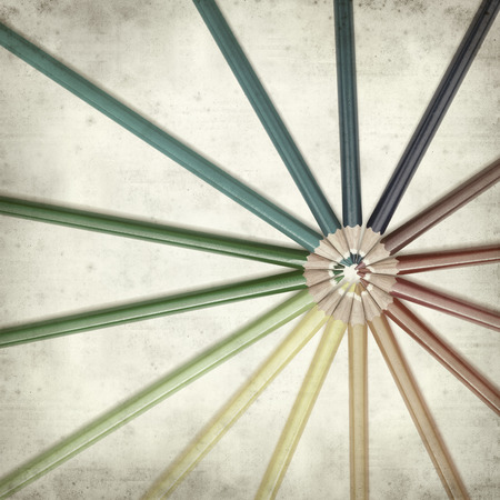 textured old paper background with color pencils Stock Photo - 25297127
