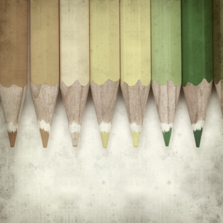 textured old paper background with color pencils Stock Photo - 25297134