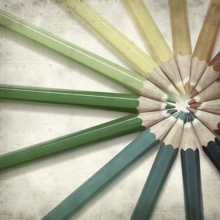 textured old paper background with color pencils Stock Photo - 25297598