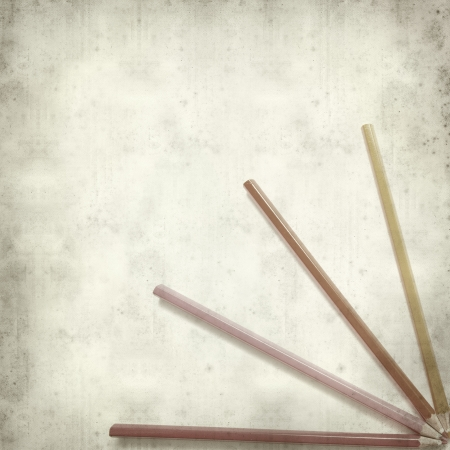 textured old paper background with color pencils Stock Photo - 25297602