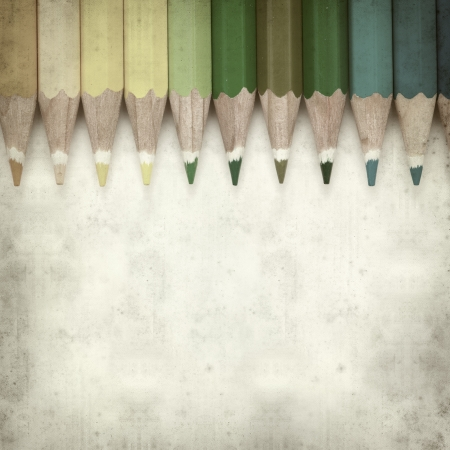 textured old paper background with color pencils Stock Photo - 25297608