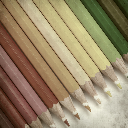 textured old paper background with color pencils Stock Photo - 25297611