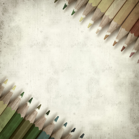 textured old paper background with color pencils Stock Photo - 25295145