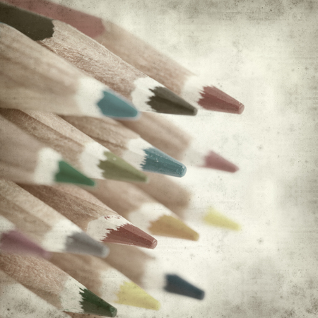 textured old paper background with color pencils Stock Photo - 25377038