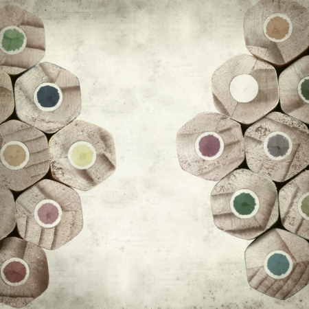 textured old paper background with color pencils Stock Photo - 25377046