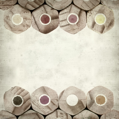 textured old paper background with color pencils Stock Photo - 25377053