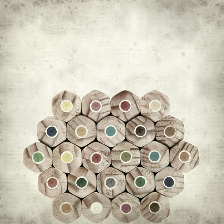 textured old paper background with color pencils Stock Photo - 25377017