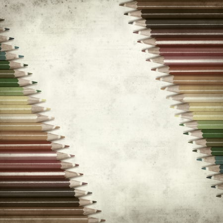 textured old paper background with color pencils Stock Photo - 25377021
