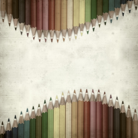textured old paper background with color pencils Stock Photo - 25377029