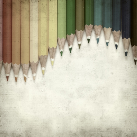 textured old paper background with color pencils Stock Photo - 25377031