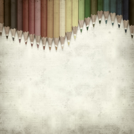 textured old paper background with color pencils Stock Photo - 25377032