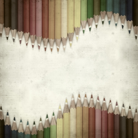 textured old paper background with color pencils Stock Photo - 25377033