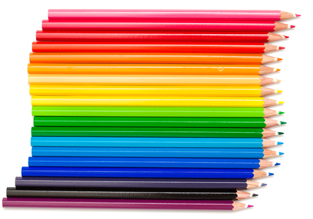 color pencils isolated on white photo