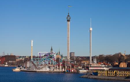 Grona Lund, amusement park in Stockholm, Sweden