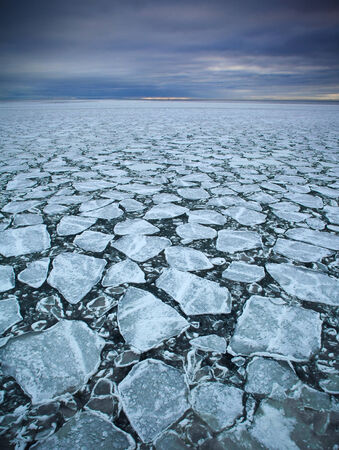 ice floes: drift ice  in Baltic  sea Stock Photo
