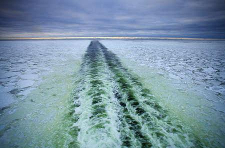 sea ferry trail, Blatic sea photo