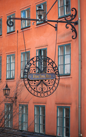 Stockholm, facades of old town