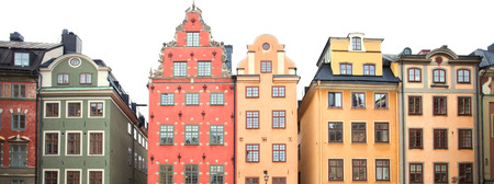 Stockholm, facades of old townin the main square photo