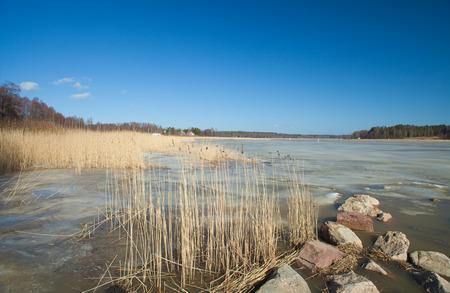 Southern Finland, early spring, Porvoonjoki fjord photo