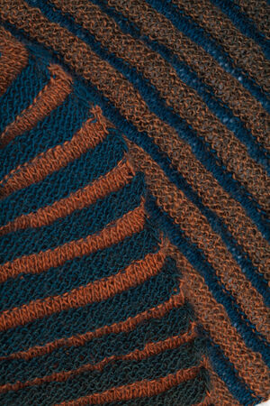 two-sided ribbed knitted scarf background photo