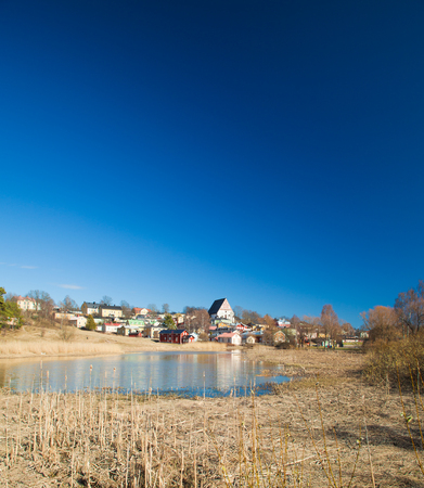 Porvoo old town from Linnamaki,  viking fortress site photo