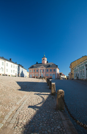 Porvoo old town Easter weekend editorial