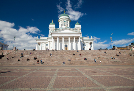 Helsinki Cathedral, warm spring day, april 2014