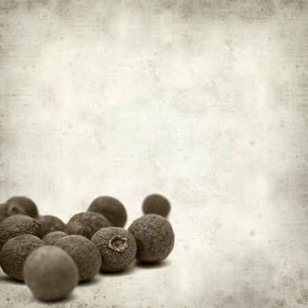 textured old paper background with allspice photo