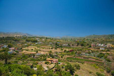 mild: Gran Canaria, Barranco de Santa Brigida landscape Stock Photo