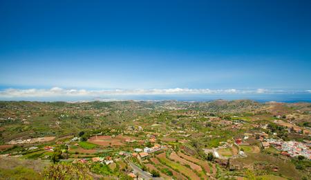 mirador: Gran Canaria, Vega de San Mateo from the viewing point Mirador de Montana Cabreja Stock Photo