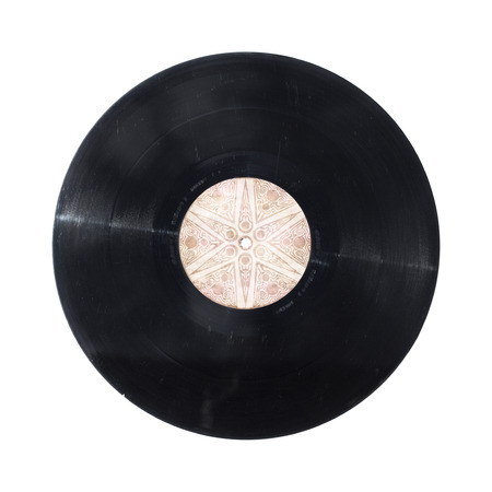 Vinyl record disc isolated on white photo