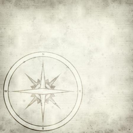 puntos cardinales: textura de fondo antiguo de papel con el símbolo de la brújula