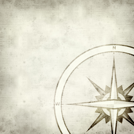 navigational: textured old paper background with compass symbol Stock Photo