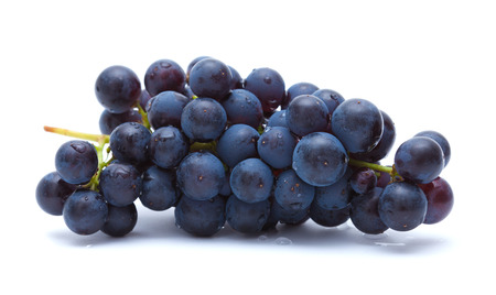 dark grapes isolated on white Stock Photo