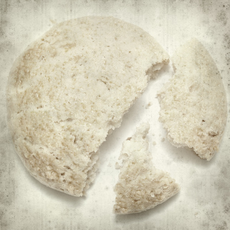 almond biscuit: textured old paper background with almond biscuit Stock Photo