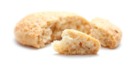 almond biscuits isolated on white background photo