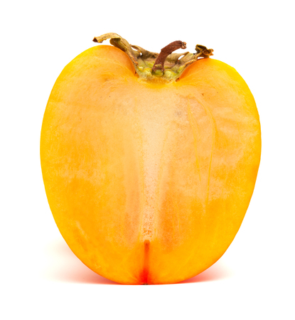 carotenoid: Japanese persimmon isolated on white