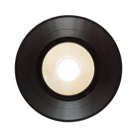 stereo cut: single record isolated on white